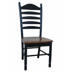 Madison Park Side Chair in Black & Cherry (Set of 2)