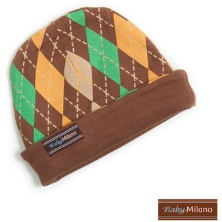 Baby Milano Argyle Hat in Brown