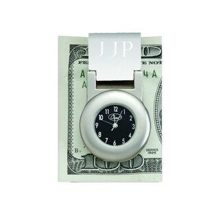 "Chass ""Financier"" Money Clip with Clock"
