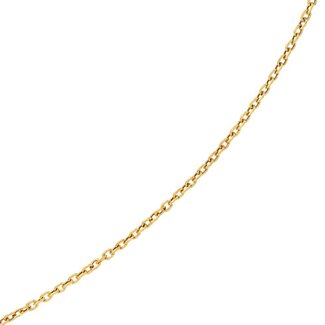 Jewelryweb 14K Necklace - Textured Oval Link