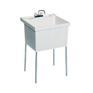Swanstone Fiberglass Laundry Sink in White