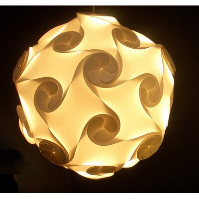 Electric Firefly Designs Large Orbital Lightshade in White by Electric Firefly