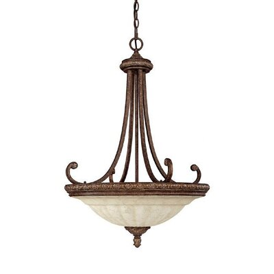 Capital Lighting Carlisle 3 Light Inverted Pendant