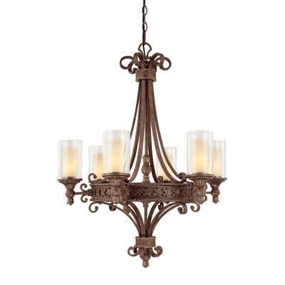 Capital Lighting Squire 6 Light Chandelier