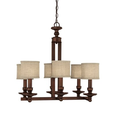 Midtown 6 Light Chandelier with Alabaster Glass Shade
