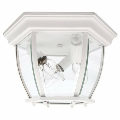 Capital Lighting Three Light Outdoor Flush Mount in White