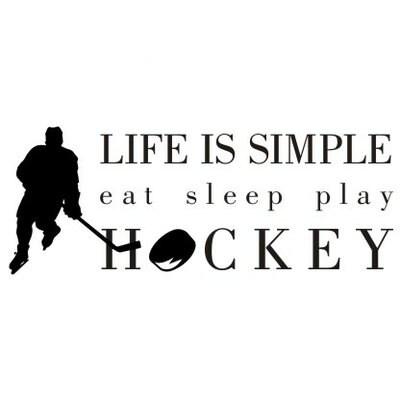 Alphabet Garden Designs Life is Simple-Hockey Wall Decal