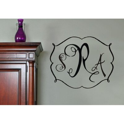 Alphabet Garden Designs Darling Monogram Wall Decal