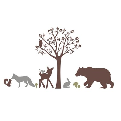 Alphabet Garden Designs Forest Critters Wall Mural Vinyl Wall Decal