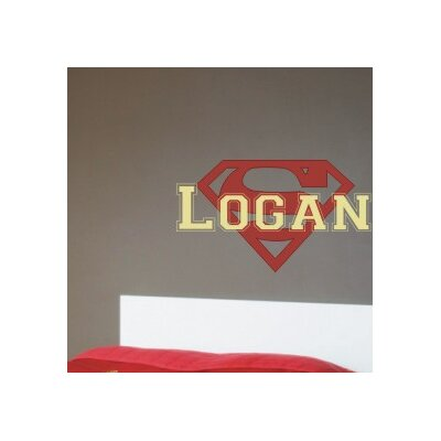 Alphabet Garden Designs Personalized Superman Wall Decal