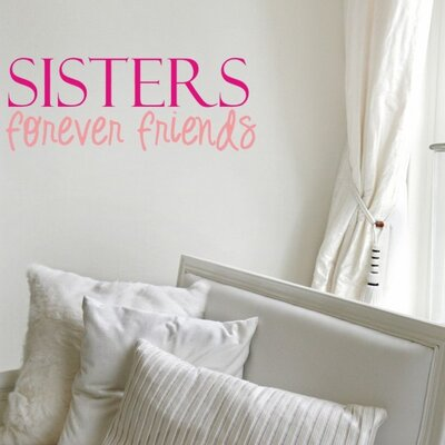 Alphabet Garden Designs Sisters Friends Wall Decal