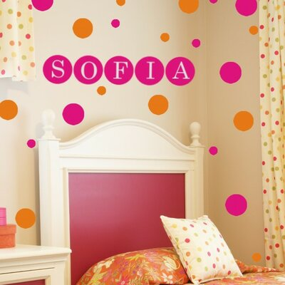 Alphabet Garden Designs Personalized Dots Wall Decal