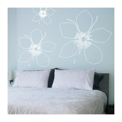 Alphabet Garden Designs Big Flower Wall Decal (Set of 3)