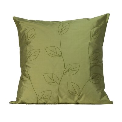 Jiti Pillows Leaves Square Silk Decorative Pillow