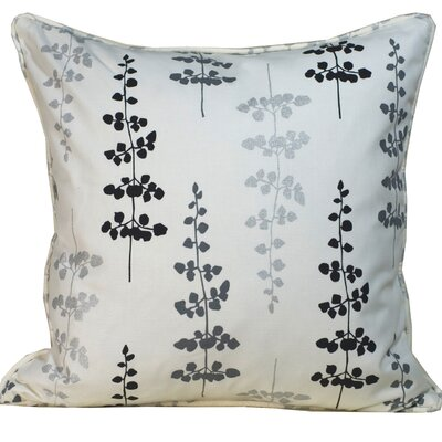 Jiti Pillows Leaves Outdoor Square Decorative Pillow in Black and Silver