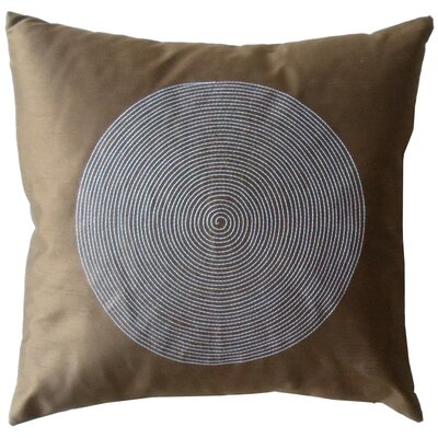Jiti Pillows Spiral Silk Square Decorative Pillow