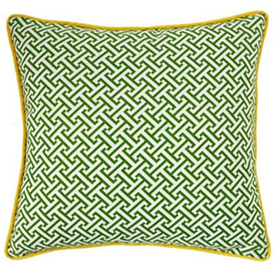 Jiti Pillows Maze Square Decorative Pillow in Green and Yellow