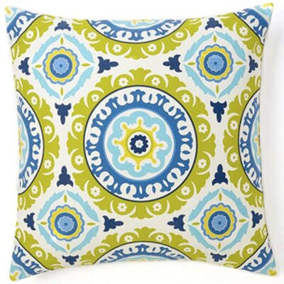 Jiti Pillows Suzani Henna Square Cotton Pillow