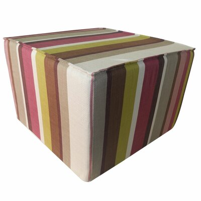 Jiti Hosta Stripes Cotton Cube Ottoman