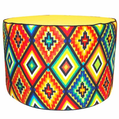 Jiti Tribal Pouf Cotton Ottoman