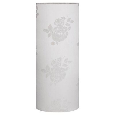 Living 2Easy Interchangeable Lamp Shade with Leaf Pattern in Ivory