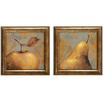 "Propac Images Pomme and Poure Print Set - 25"" x 25"" (Set of 2)"