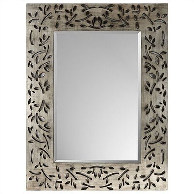 Silver Industrial Leaf Rectangle Mirror