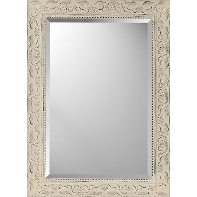 Paragon Rectangle Aged Ivory Embellished Mirror