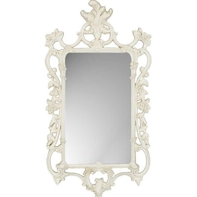 White Ornate Traditional Wall Mirror