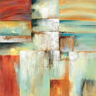 "Paragon Painted Brick Wall by Unknown Contemporary Art - 40"" x 40"""