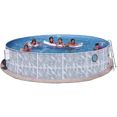 "Heritage Pools 42"" Round Pool Package with Port Hole"