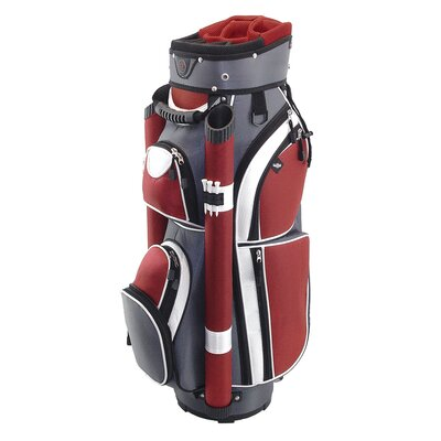 Hunter Golf Storm Cart Bag in Charcoal / Red / White