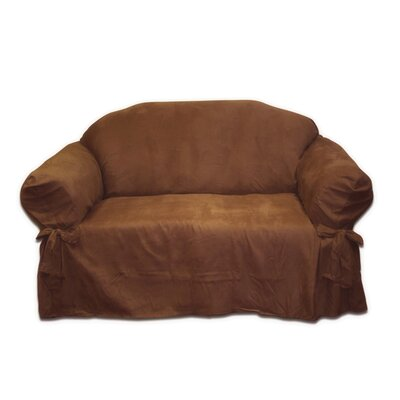 Textiles Plus Inc. Faux Suede Loveseat Slipcover
