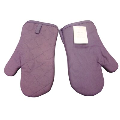 Quilted Oven Mitt in Plum (Set of 2)