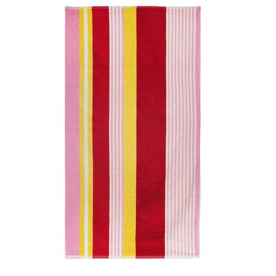 Textiles Plus Inc. Velour Multi-Colored Stripe Beach Towel