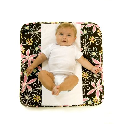 Ah Goo Baby The Plush Pad Memory Foam Changing Pad in Retro Daisy
