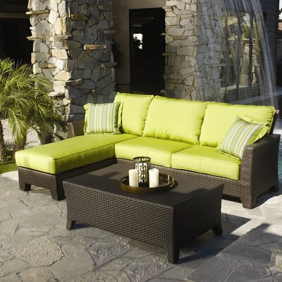 Sunset West Malibu Sectional Sofa with Cushions