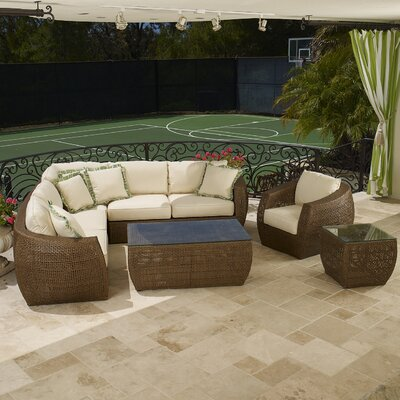 Sunset West Huntington Sectional Deep Seating Group with Cushions