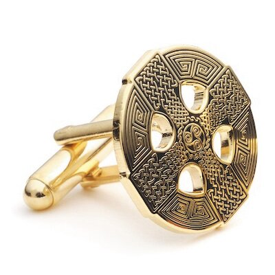Gold Celtic Cross Cufflinks