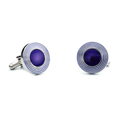 L2 Concentric Circles Cufflinks in Purple