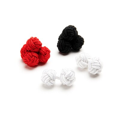 Ox and Bull Basic Silk Knot Cufflinks