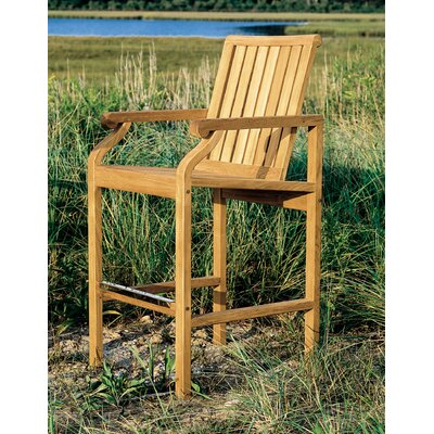 "Kingsley Bate Nantucket 28"" Teak Outdoor Bar Chair"
