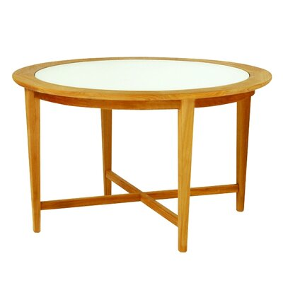 Kingsley Bate Amalfi Round Glass Top Table
