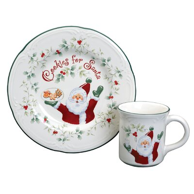 Winterberry Cookies Plate and Milk Mug Set