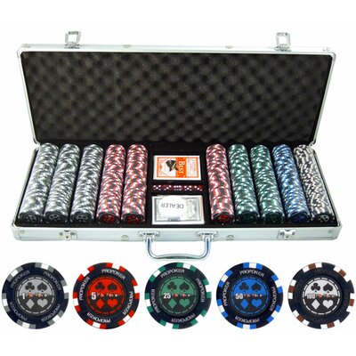 JP Commerce 500 Piece Pro Poker Clay Poker Set