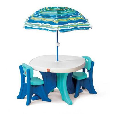 Step2 Kids' 4 Piece Play and Shade Patio Set