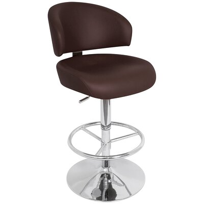 "LumiSource Regent 33"" Bar Stool in Brown"