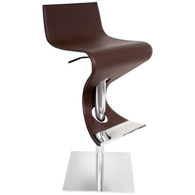 "LumiSource Viva 28"" Bar Stool in Coffee"