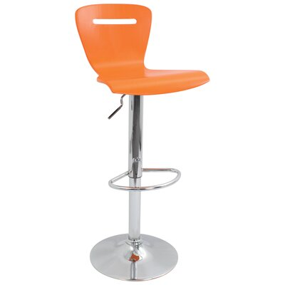 "LumiSource H2 23"" Barstool in Orange"