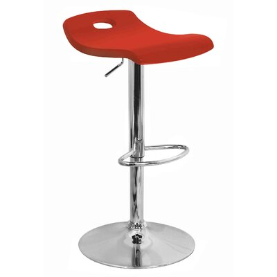 LumiSource Surf Bar Stool in Red